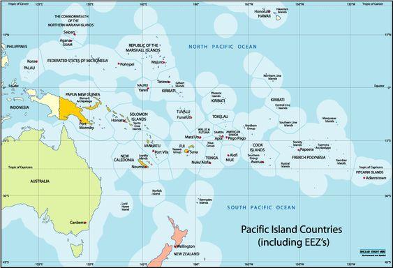 On A World Map Kwajalein Marshall Islands