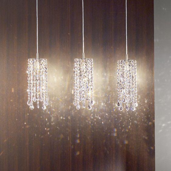 Mini Crystal Pendant Lighting