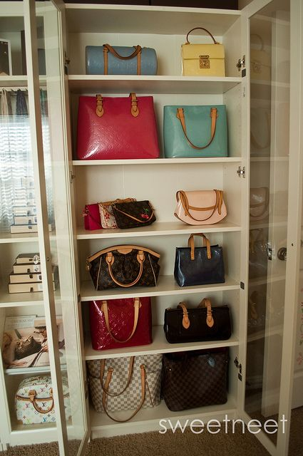 Ikea Billy Bookcase With Glass Doors For Purses I Will