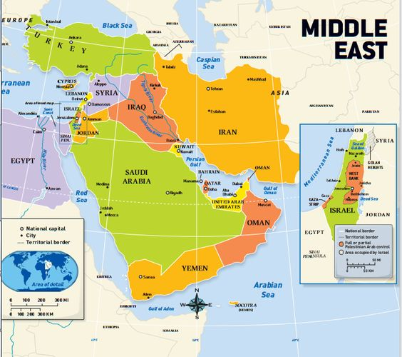 Middle Eastern Cities Map