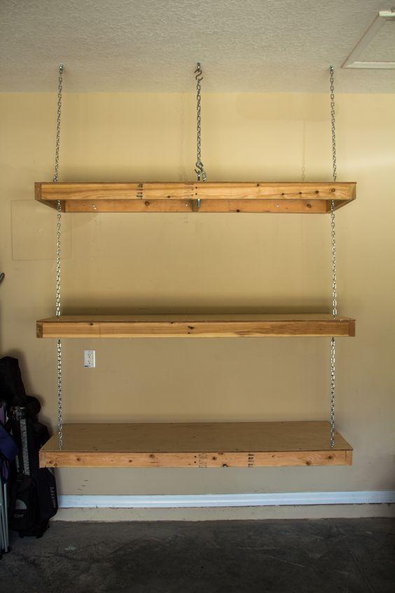 Best Ideas About Hanging Garage Shelves Storage Garage