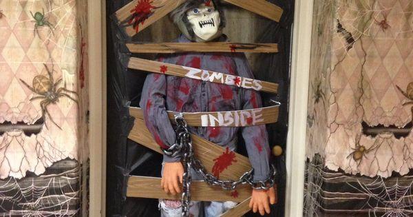 Classroom Halloween Door Decorating Contest Zombies