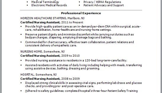 Check Out This Sample Of A Cna Resume Resumes Are Vital