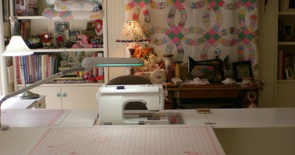 Hidden Murphy Bed Behind Sewing Table In My Sewing Studio