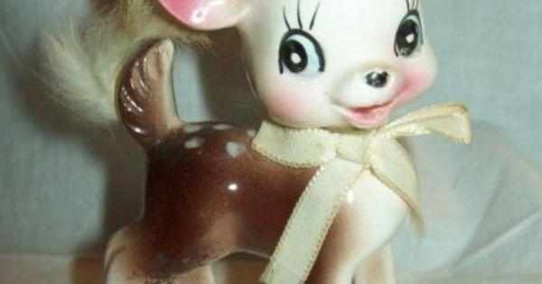 Details About Vintage Porcelain Japan Fawn Baby Deer Spots