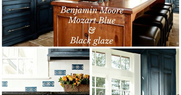 Benjamin Moore Quot Mozart Blue Quot With Black Glaze Done By
