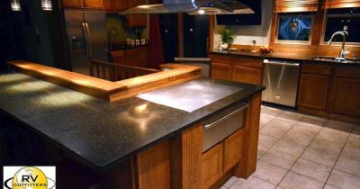 Kitchen - Built In Hibachi Grill In Island | For the Home ...