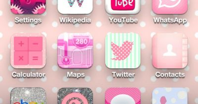 My iPhone home screen after I discovered cocoppa! | IPhone ...