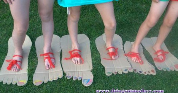 Big Foot Party Games Www Thingsofmother Com