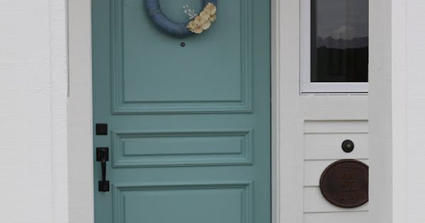 Door Painted In Sherwin Williams Drizzle Gorgeous Color