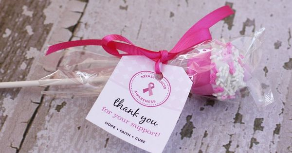 Free Printable Thank You Tag For Breast Cancer Awareness
