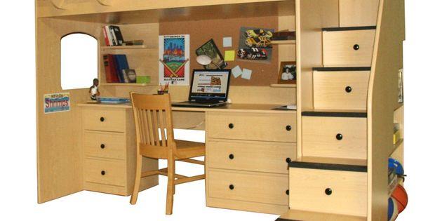 Agreeable Ikea Light Wood Adult Loft Beds With Desk