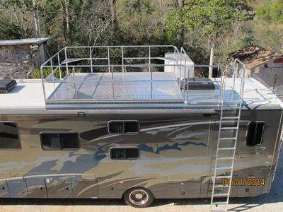 Rv Roof Observation Deck Race Deck Viewing Platform For