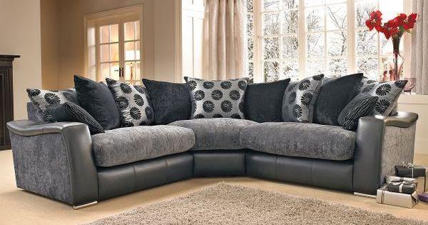 Lowri Corner Sofa Like Dfs Black Grey Gray Big Houses