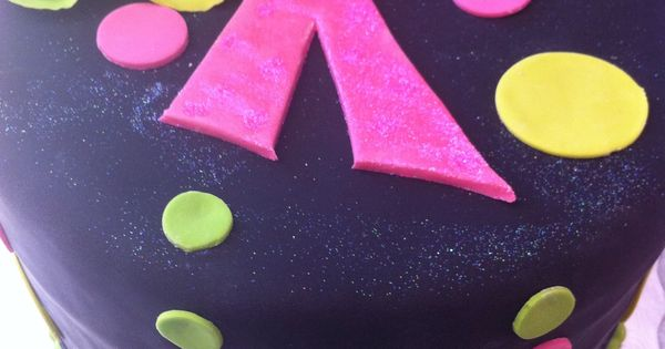 Neon Birthday Cake For An Even Brighter 11 Year Old Girl
