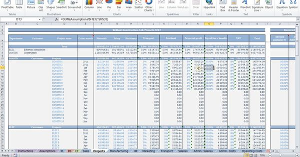 Finance And Accounting Templates Small Business Excel