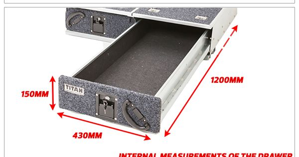 Titan Drawer System 1300mm Ute Drawer 4wd Amp Outdoor