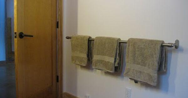 Ikea Curtain Rod As Extra Long Towel Bar Bathroom
