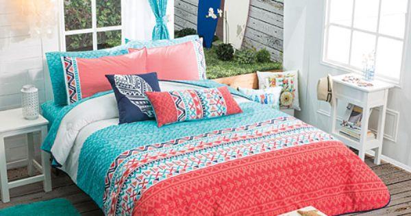 Twin Full Queen Girls And Teens Aztec Trendy Comforter Set