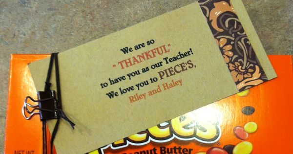 Gifts For Teacher For Thanksgiving Simple Reese S Pieces