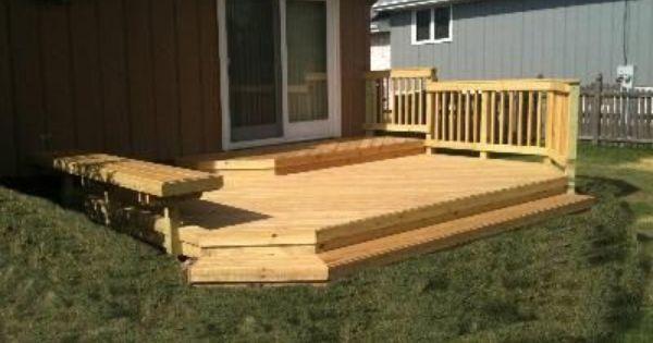 Steps Down To Platform Deck Then More Wrap Around Steps