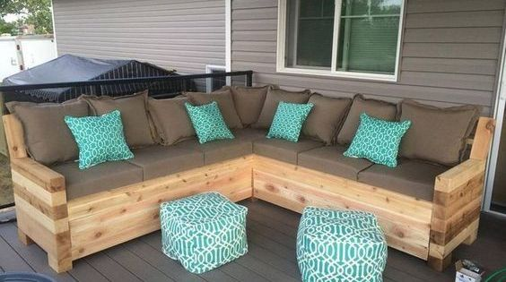 Pallet Patio Sectional Sofa Plans Outdoor Sectional