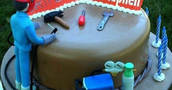 Way Cool Birthday Cake For A Welder Weld Mafia
