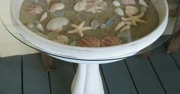 Best Idea For My Leaking Bird Baths Beach Themed Crafts