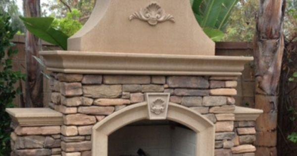 Concrete Outdoor Fireplace Kit Precast Concrete