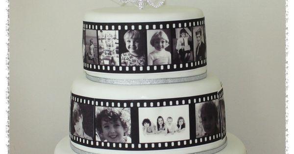 Photo Film Strip Cake 3 Tier 40th Birthday Cake With