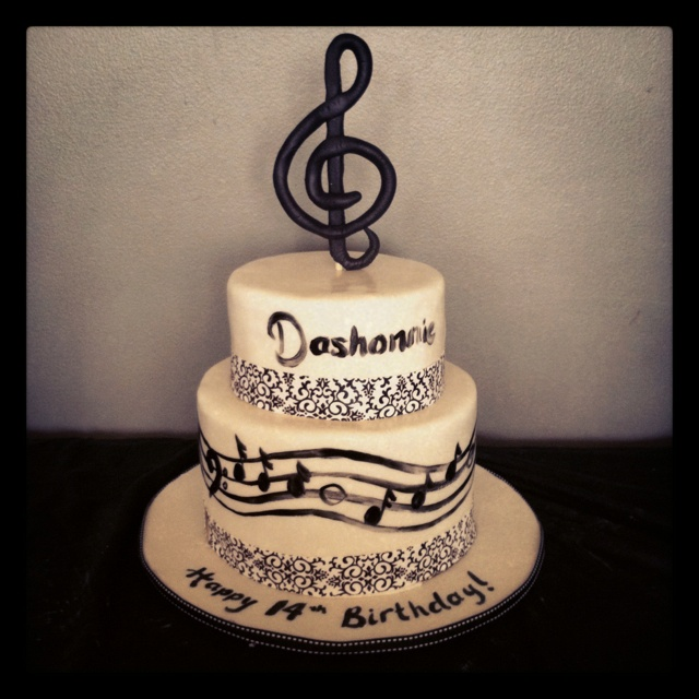 Happy Birthday Musical Notes Facebook
