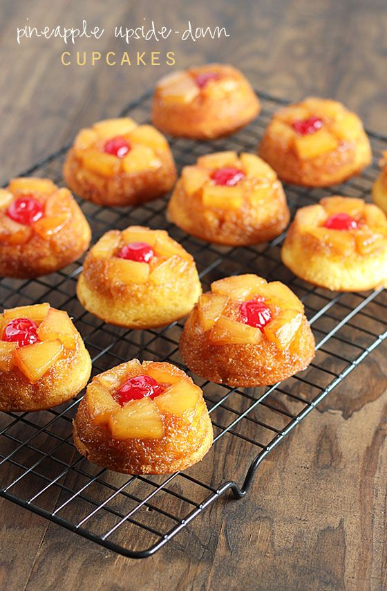 Mini Pineapple Upside Down Cakes Crushed Pineapple
