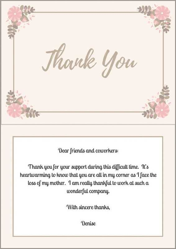 Thank You Note Wording Samples