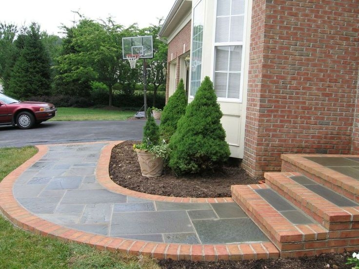 Front Steps Design Ideas Home Design Ideas | Front Porch Steps Designs | Porch Style | Beautiful Front | Front Entry Brick Stair | Outside | Outdoor Step