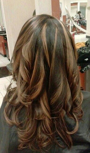 Hair Brown Silver Hair Dark Highlights