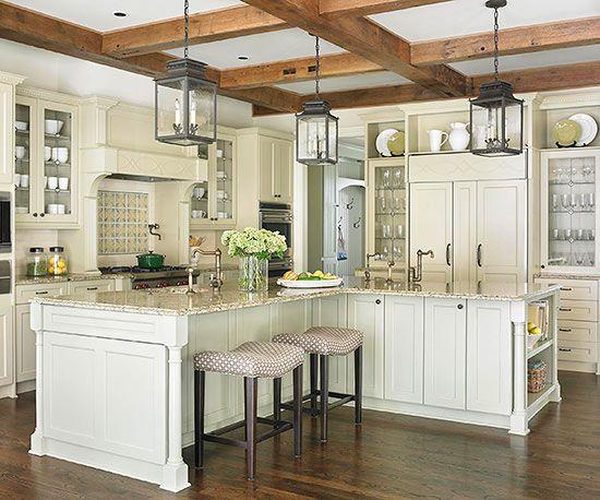 L Shaped Kitchens W Islands