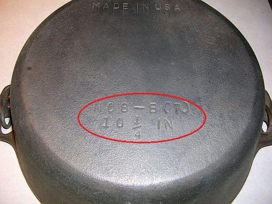 Cast Iron Skillet Identification