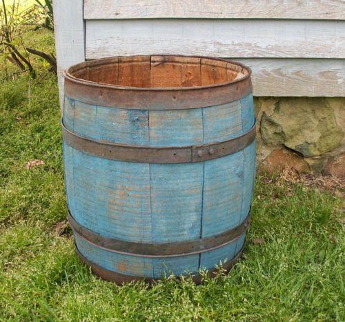 Wood Barrels Buckets Planters