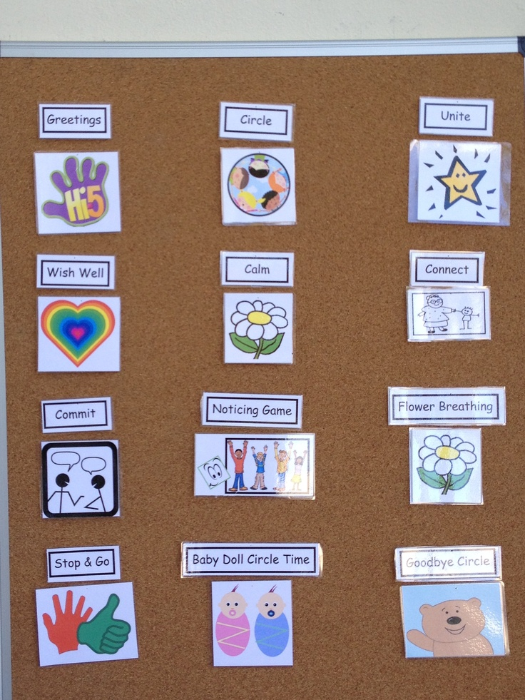 Visual Schedule Preschool