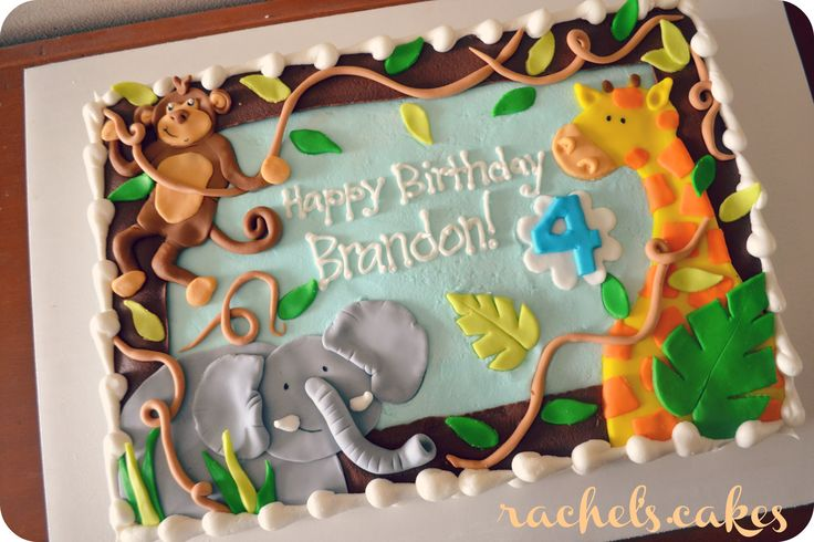 Safari Baby Shower Sheet Cakes