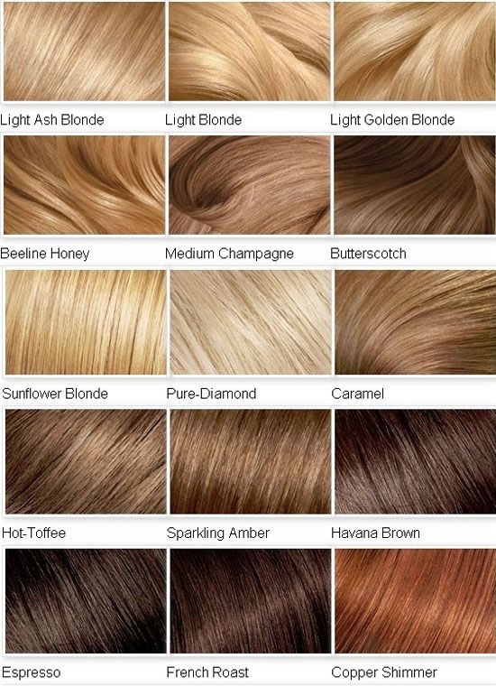 Different Shades Blonde Hair Colour