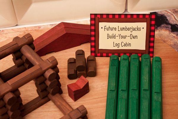 Activity Build Your Own Log Cabin Via Piggy Bank Parties