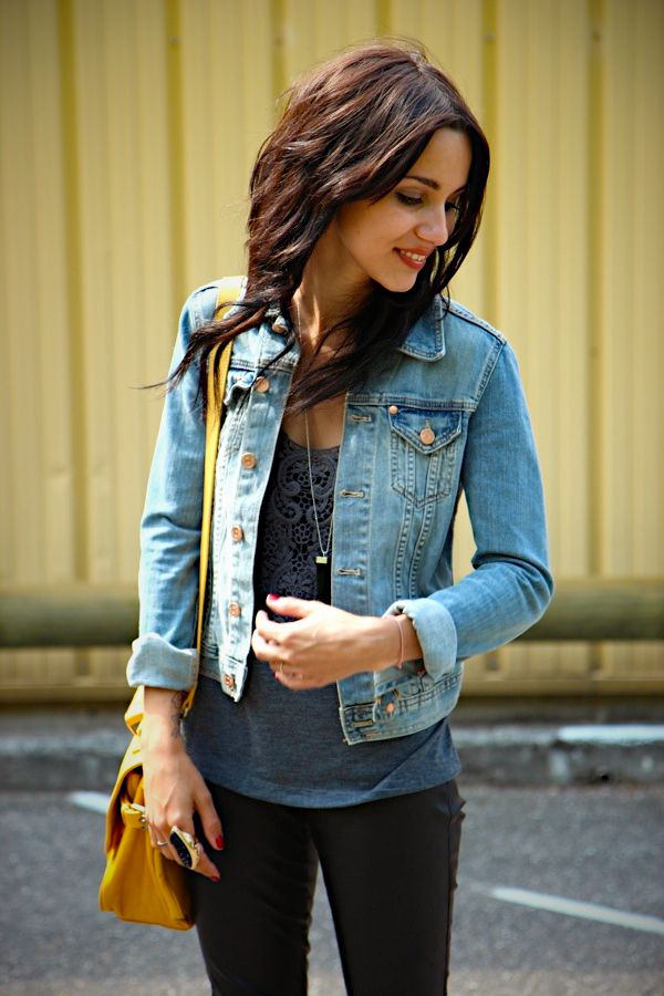 Jean Pins Tipped Black And Hair Jacket