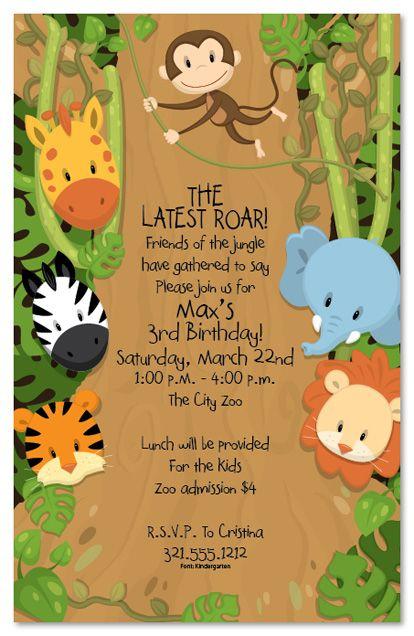 Safari Themed Baby Shower Invites