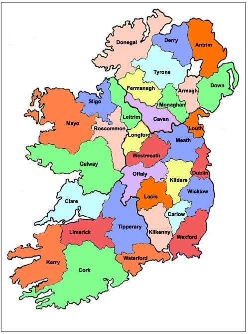 Blank Map Of Ireland 32 Counties.Blank Map Irish Counties