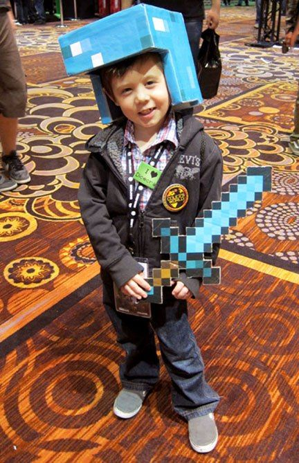 And Sword Steve Minecraft Papercraft Diamond
