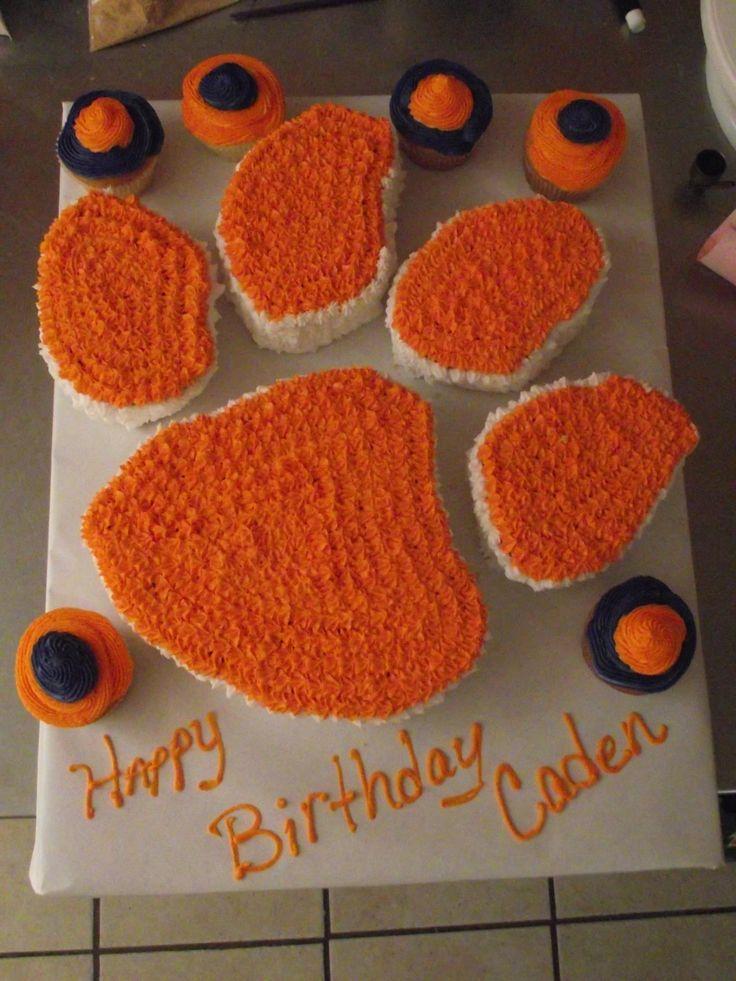 Clemson Tiger Paw Cake My Cakes Pinterest Happy