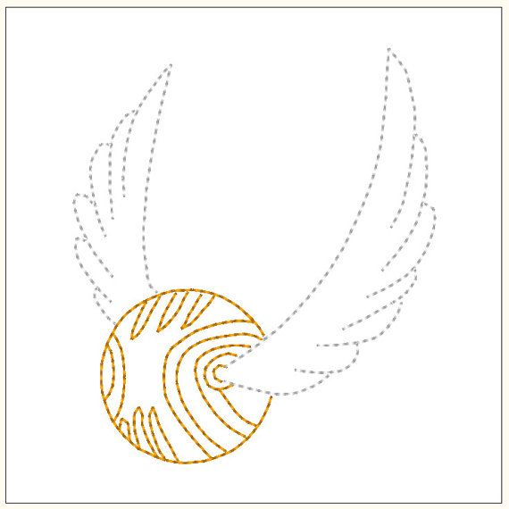 Golden Snitch Wings Template