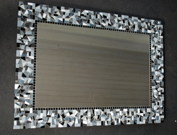 Tiles Frame Bathroom How Mirror Mosaic