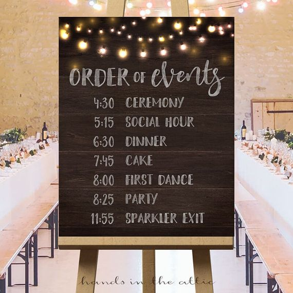 Traditional Wedding Ceremony Order Events